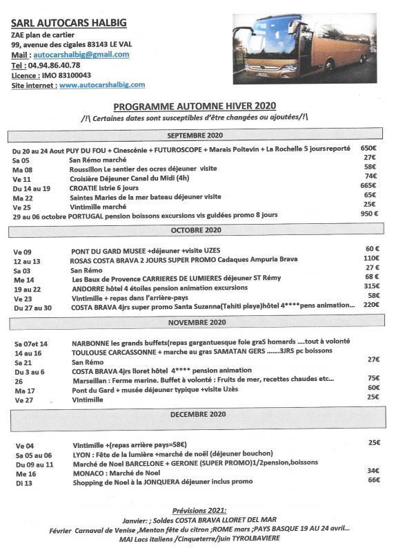 Programme 20200007