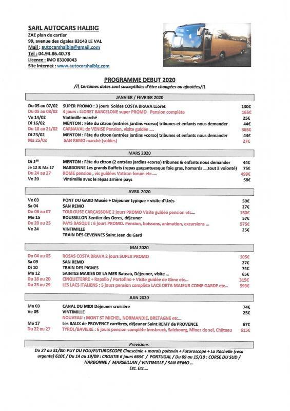 Programme debut 2020