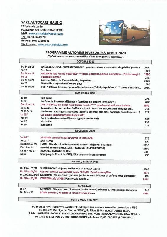 Programme fin 2019 debut 2021