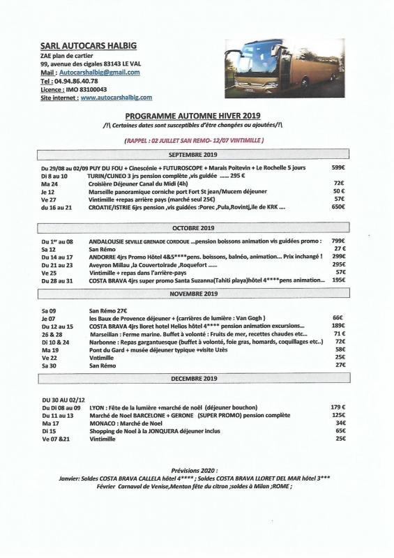 Programme juin 2021